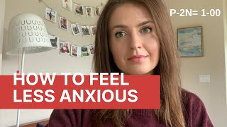How to Feel Less Anxious - Explained with Math