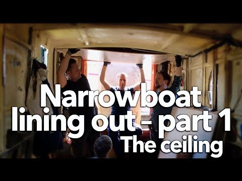 #18 Narrowboat lining out – part 1, the ceiling