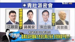 國民黨內部建議「江啟臣配蔣萬安」中生代戰2020選總統?少康戰情室 20181206