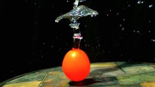 MUSHROOMING WATER BALLOON POP (Super Slow Motion Science Experiment) - Slow Mo Lab