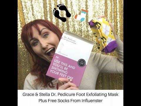 Grace & Stella Dr. Pedicure Foot Exfoliating Mask.  Plus Free Sock From Influenster!