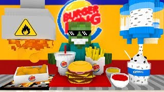 Monster School: WORK AT BURGER KING PLACE! - Minecraft Animation