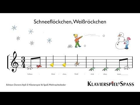 Schneeflöckchen, Weißröckchen, Weihnachtslieder, Klavier