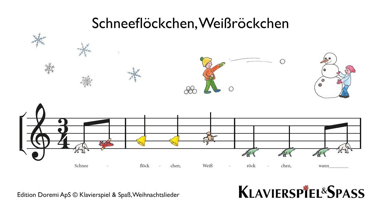 Schneeflöckchen, Weißröckchen, Weihnachtslieder, Klavier - YouTube