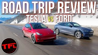 Charging FAIL & GREAT Surprise When We Compare The Model Y & Mach-E On The World's Toughest EV Test!