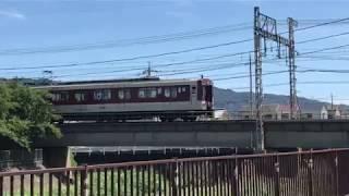 ◆恩知川鉄橋を走る近鉄電車◆