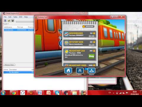Hack/Truco Subway Surfers! Dinero y más! / Cheat Engine 6.3