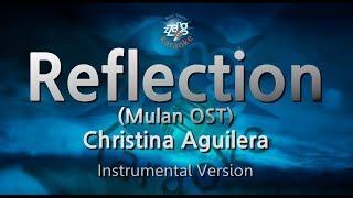 Christina Aguilera-Reflection (Mulan OST) (-1key) (MR) (Karaoke Version) [ZZang KARAOKE]