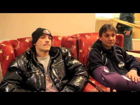 LEE SELBY & CHRIS SANIGAR POST WEIGH-IN INTERVIEW FOR iFILM LONDON / SELBY v LINDSAY