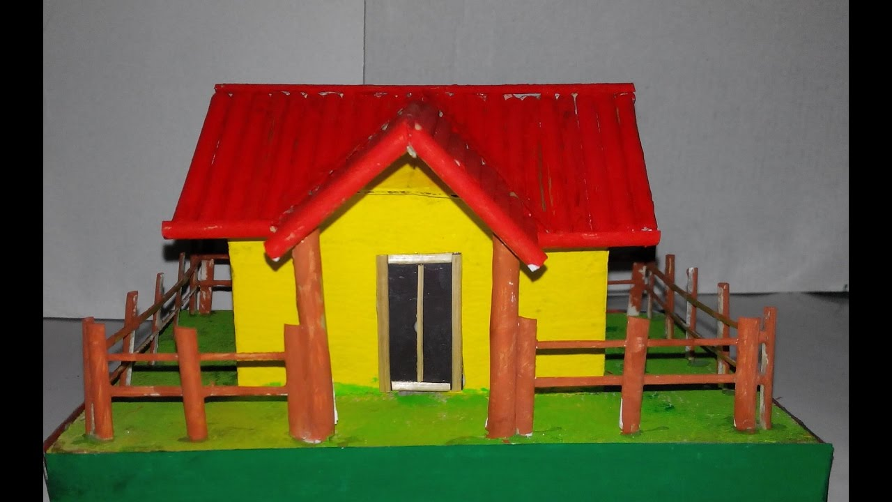 How to make paper house youtube for Build a 3d house online