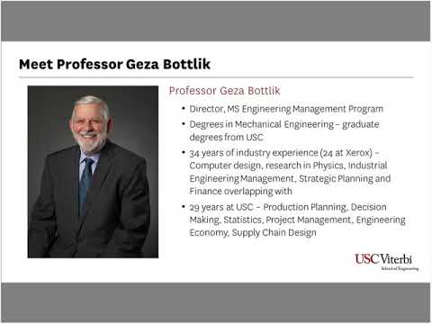MS in Engineering Management - USC Viterbi | Prospective