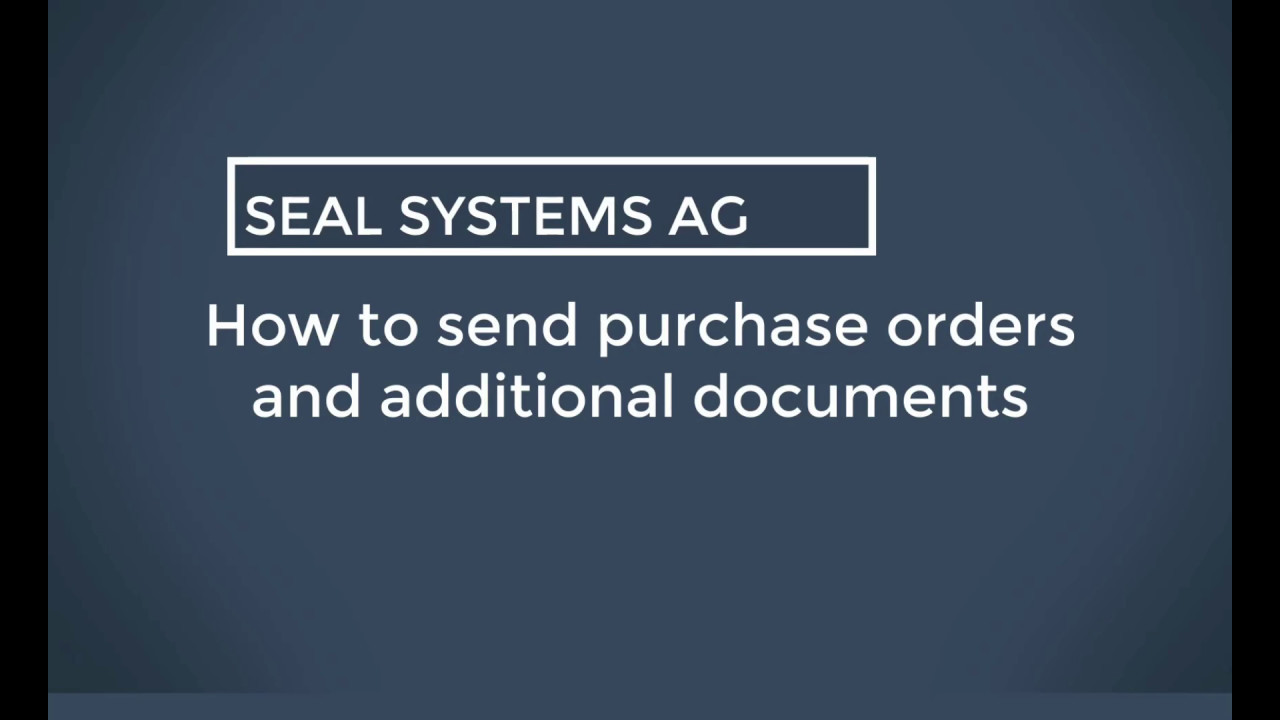 SAP Purchase Orders - Solutions for Purchasing in SAP | Seal Systems