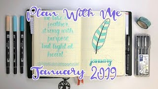 PLAN WITH ME   Bullet Journal   January 2019