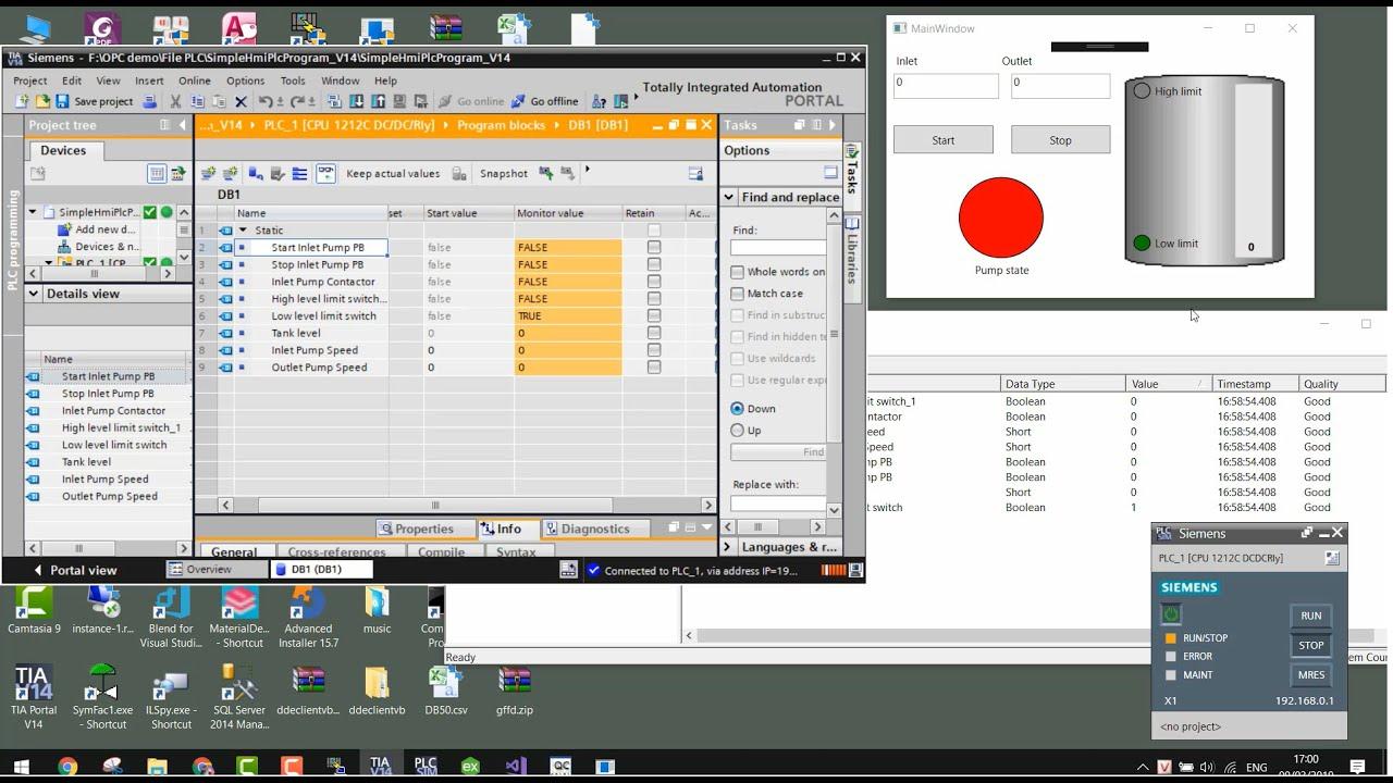 Open Source SCADA: OPC DA & Kepware OPC Sever & S7 1200 - YouTube