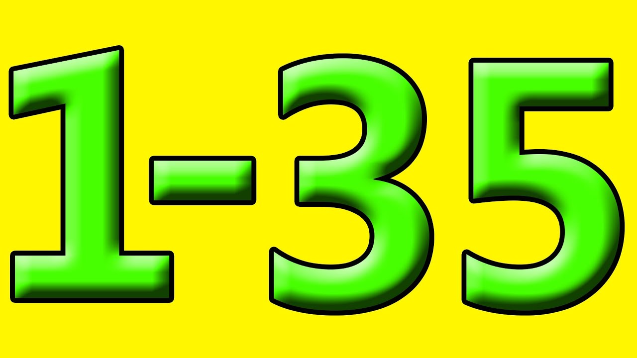 Simple Learning To Count To 35 Counting 1 To 35 Numbers