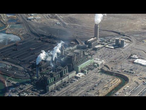 Power Plant Under Fire