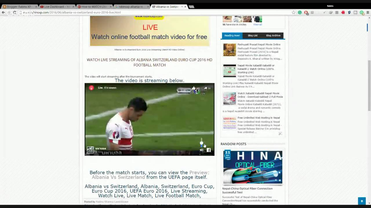 How To Watch Live Streaming Of Albania Switzerland Euro Cup 2016 Hd Football Match 100 Working L