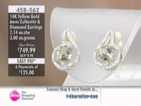 14k Gold Round Zultanite Earrings At The Ping Channel 458562