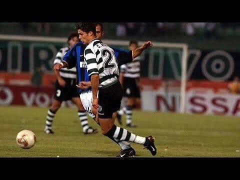 17 Years Old C. Ronaldo vs Inter Milan (Debut For Sporting Lisbon) 14/08/2002 - TC7