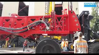 Sandvik DR416i Rotary Blasthole Drill - Mast Raising