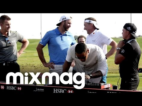 Reggie Yates DJing with golf stars at Abu Dhabi HSBC Championship