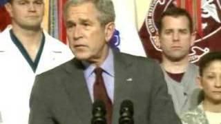 Bush Walter Reed Visit