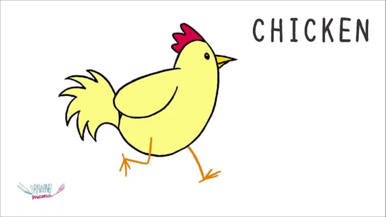 how to draw chicken familia kreativa