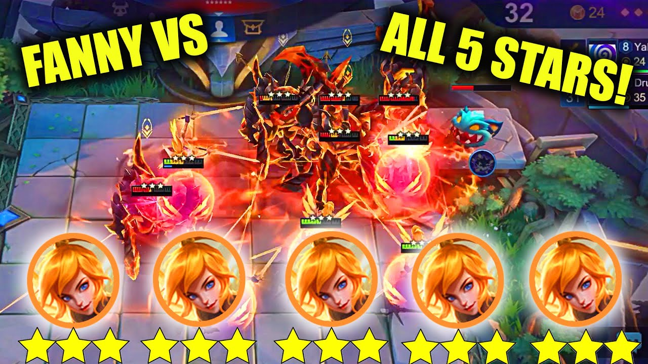 UNLIMITED 3 STAR FANNY VS 3 STAR THAMUZ,LING AND GATOTKACA EPIC FIGHT MUST WATCH WHOS STRONGEST?