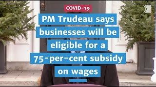 75-per-cent subsidy on wages meant to cushion the blow from COVID-19