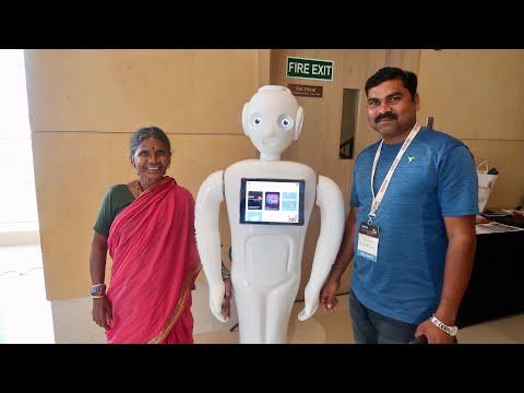 Gangavva Talks At Tech For Good Summit 2019   My Village Show Vlogs #47