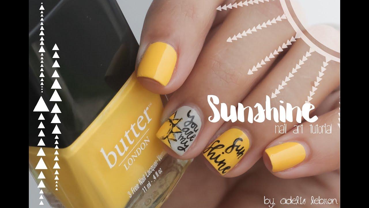 Sunshine Nail Art Tutorial Youtube