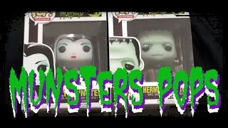 Herman and Lily Munster Funko Pop Unboxing Review The Munsters Pops
