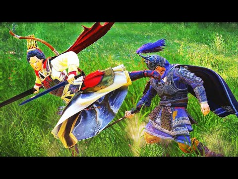 Heroes Duels with Reign of Blood DLC. Total War Three Kingdoms cinematic battle machinima |