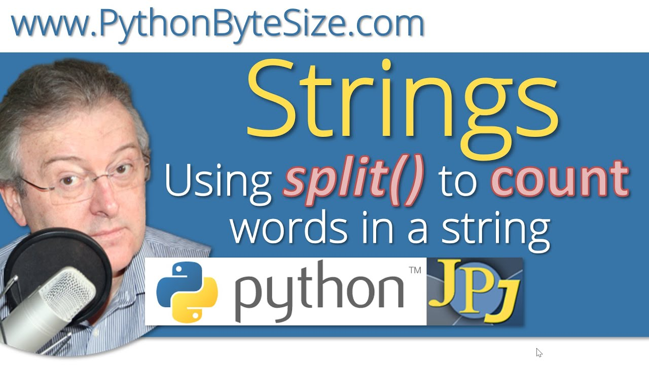 Python Using the split() method to count words in a string
