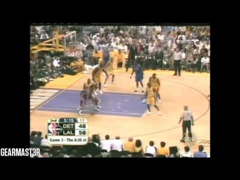 2004 NBA Finals - Detroit vs Los Angeles - Game 2 Best Plays