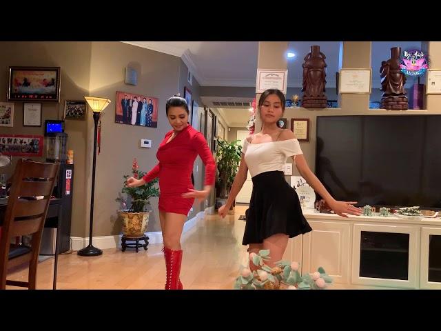 Con Gái Ngọc Huyền Bé Hà Tiên Dạy Mẹ Nhảy Siêu Dễ Thương