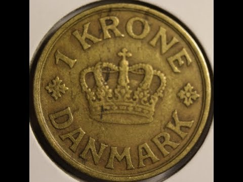 One KRONE coins of DENMARK HD