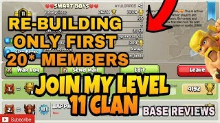 CLAN RE-BUILDING ! BASE REVIEWS ! PUSHING TO LEGEND IN TH9 !