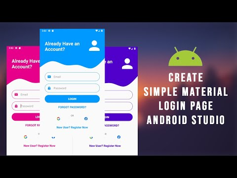 Android Material UI Login Page Design   Android Studio   Android UI UX Design