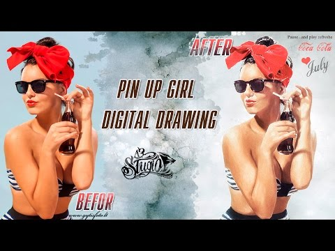 Pin Up Poster in Photoshop | Уникальная техника ★  How to Create a Pin-Up Poster in Photoshop ★