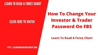 How To Change Your Investor & Trader Password On FBS | The Forex Ninja Bot