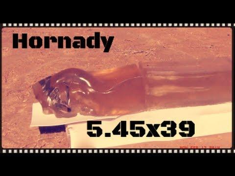Hornady 5.45x39 60gr V-MAX Ballistics Gel Test (HD)