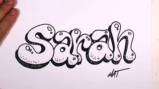 Graffiti Writing Sarah Name Design #36 in 50 Names Promotion