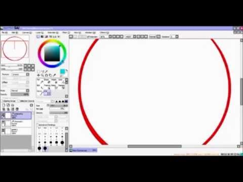 Paint Tool SAI - Making Perfect Circles And Shapes