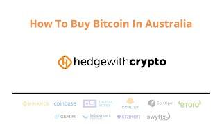 Come acquistare Bitcoin nell'Australia occidentale