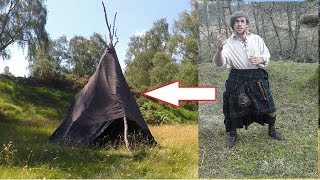Kilt Tent. Using the Plaid for Shelter (Wool blanket Teepee)