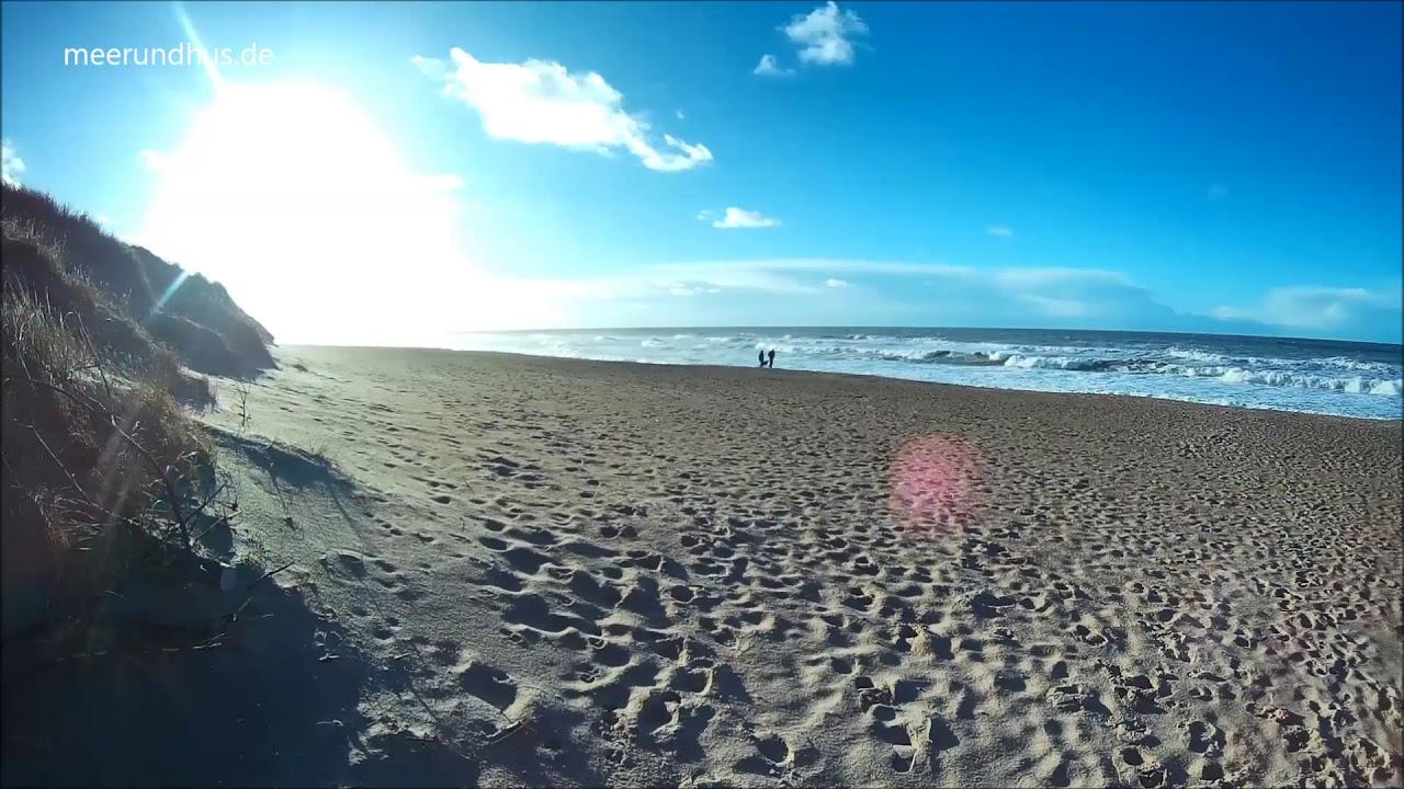meer und hus - vejlby klit am strand in dänemark - youtube