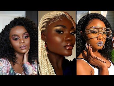 Makeup Tutorial For Black Women 2020 👩🏾🦋| Melanin Makeup Compilation