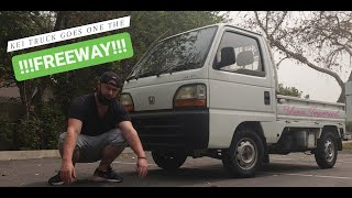 Honda Acty Kei truck goes on the freeway!!!
