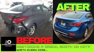 Rebuilding a Salvaged 2011 Hyundai Elantra Gls